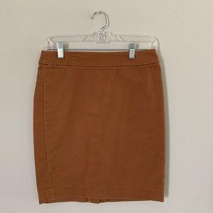 LOFT Camel Skirt